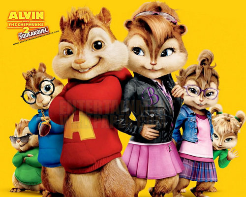 Alvin at mga tsipmank wolpeyper with anime called the chipmunks