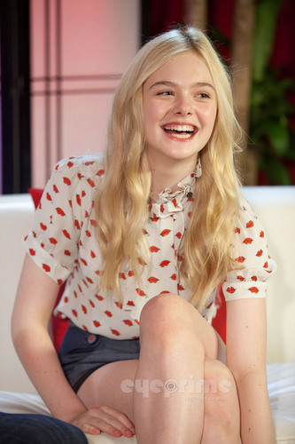 Elle Fanning at Young Hollywood Studios.
