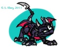 """Old"" Cynder - spyro-the-dragon fan art"