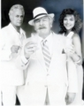 1986 Tony Curtis, Peter Ustinov, and Emma Samms