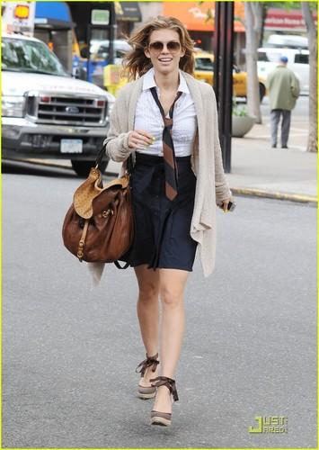 AnnaLynne McCord Visits NYC