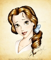 Walt Disney Fan Art - Belle Portrait Color - walt-disney-characters fan art