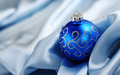 Blue Krismas ornaments