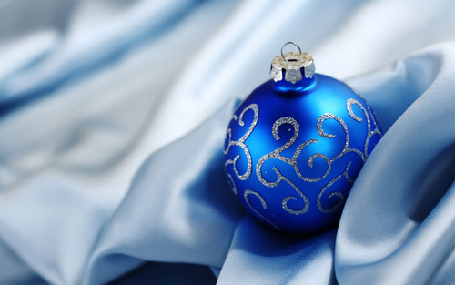 Blue Weihnachten ornaments