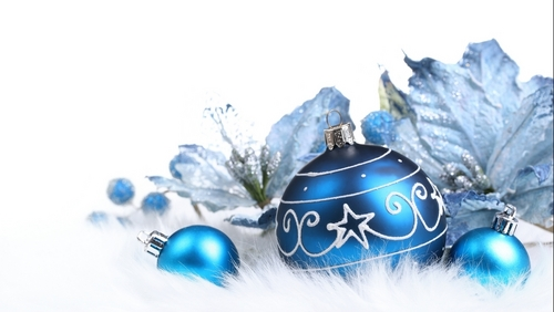 Blue Natale ornaments