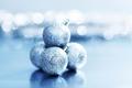 Blue クリスマス ornaments