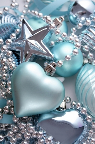 Blue natal ornaments