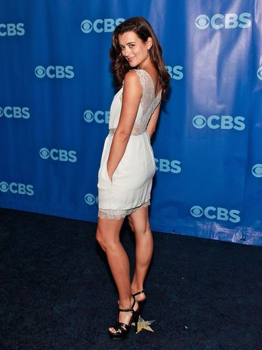 Cote de Pablo پیپر وال possibly containing a tennis player and a portrait entitled CBS Upfront