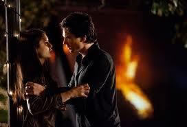 Stelena vs Delena پیپر وال possibly containing a آگ کے, آگ titled Delena