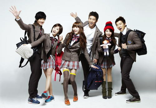Dream High 바탕화면 possibly with a well dressed person, a hip boot, and an outerwear titled Dream High Cast