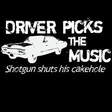 Driver picks the música