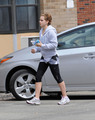 Emma Watson arrives at the gym for a workout in Pittsburgh, May 21