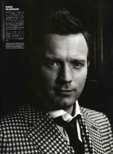 Ewan McGregor দেওয়ালপত্র probably with a business suit entitled Ewan McGregor on GQ Magazine