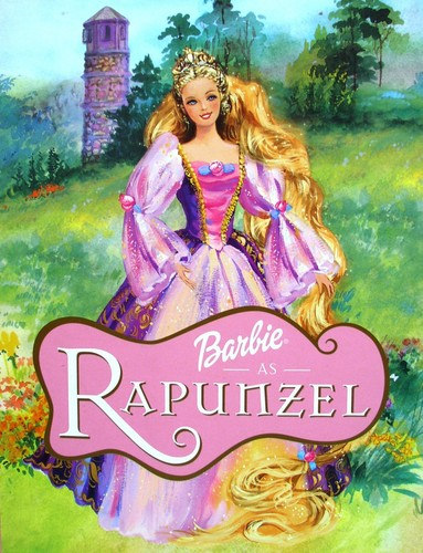 FINALLY! Better quality of Barbie Rapunzel book cover!