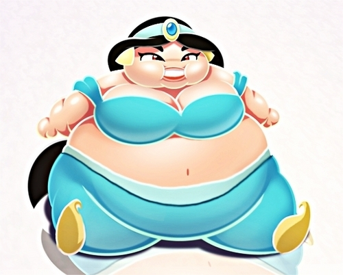 Walt disney fã Art - Fat Princess jasmim