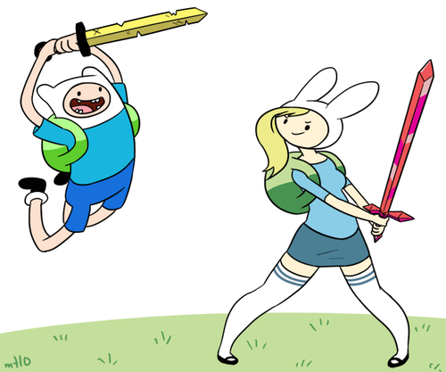 Adventure Time With Finn and Jake wallpaper with anime entitled Finn and Fiona