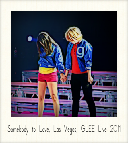 Lea Michele and Dianna Agron wallpaper probably with a sign, a workwear, and an outerwear entitled Glee Live Tour 2011 ♥