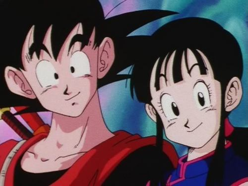 dragon ball z wallpaper containing anime called goku and Chi-Chi