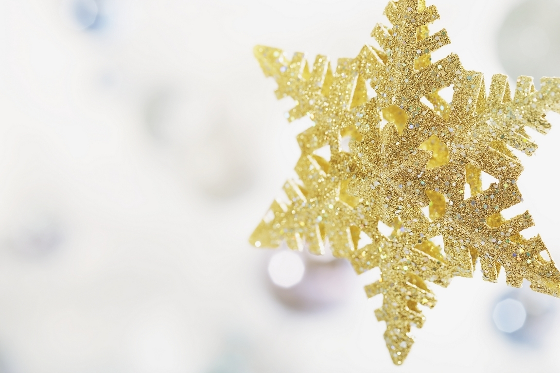 Christmas Decorations With Gold : Golden christmas decorations photo