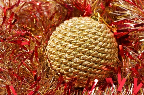 Golden Krismas decorations