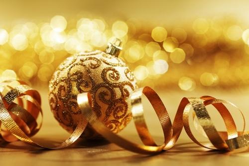 Golden বড়দিন decorations