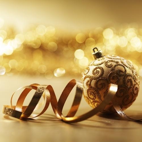 Golden Рождество decorations