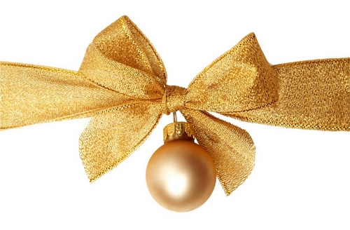 Golden natal decorations