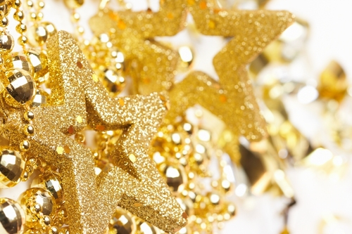 Golden Natale decorations