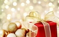 Golden Christmas ornaments - christmas wallpaper