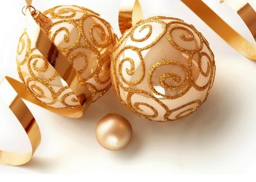 Golden Рождество ornaments