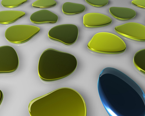 Green wallpaper entitled Green objects