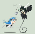 Grimmjow and Ulquiorra Chibis