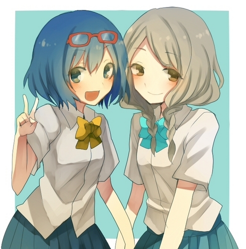 Haruna Otonashi and Sansai Akane