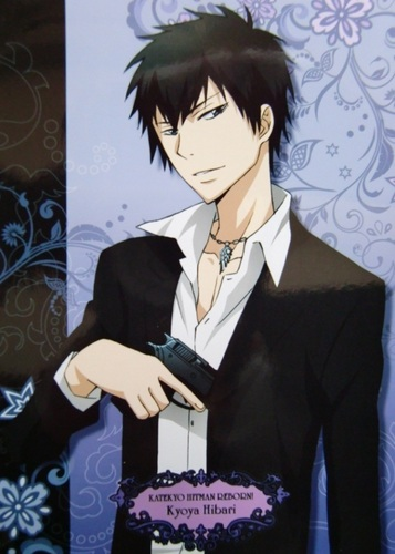 Hibari Kyoya پیپر وال containing a business suit and a suit called Hibari Kyoya