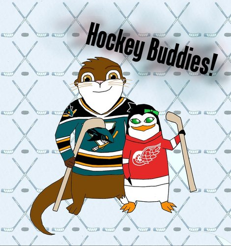 Hockey Buddies! - Brandon and Angel