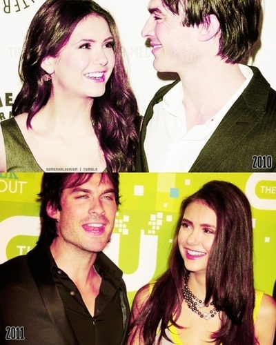 Ian Somerhalder and Nina Dobrev wallpaper with a portrait called Ian/Nina ღ