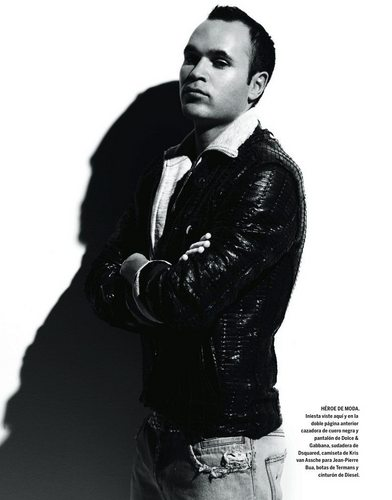 Iniesta in fashion shoot for newspaper