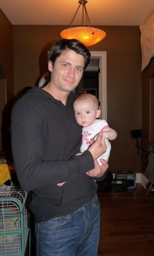 James and baby