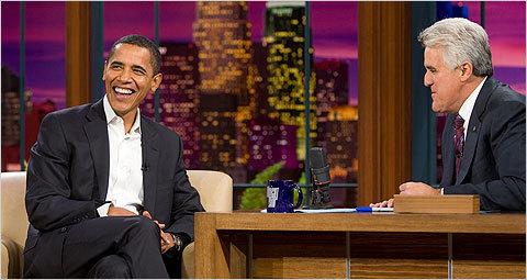 Barrack Obama and jay Leno