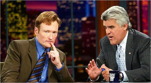 Conan O'Brien and jay Leno