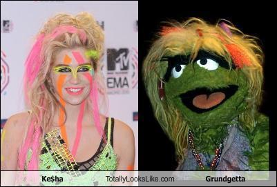 Ke$ha totally looks like Grundgetta.