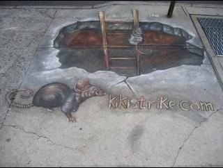 Kiki Strike sidewalk art