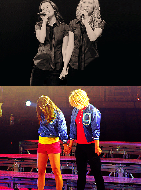 Lea&Dianna {Glee Live! 2011}