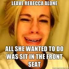 Leave Rebecca Black Alone RIGHT NOW!