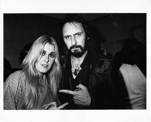 Lita Ford with John Entwistle 1978