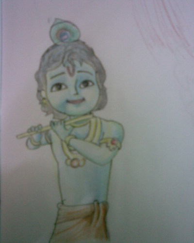 Little krishna drawing