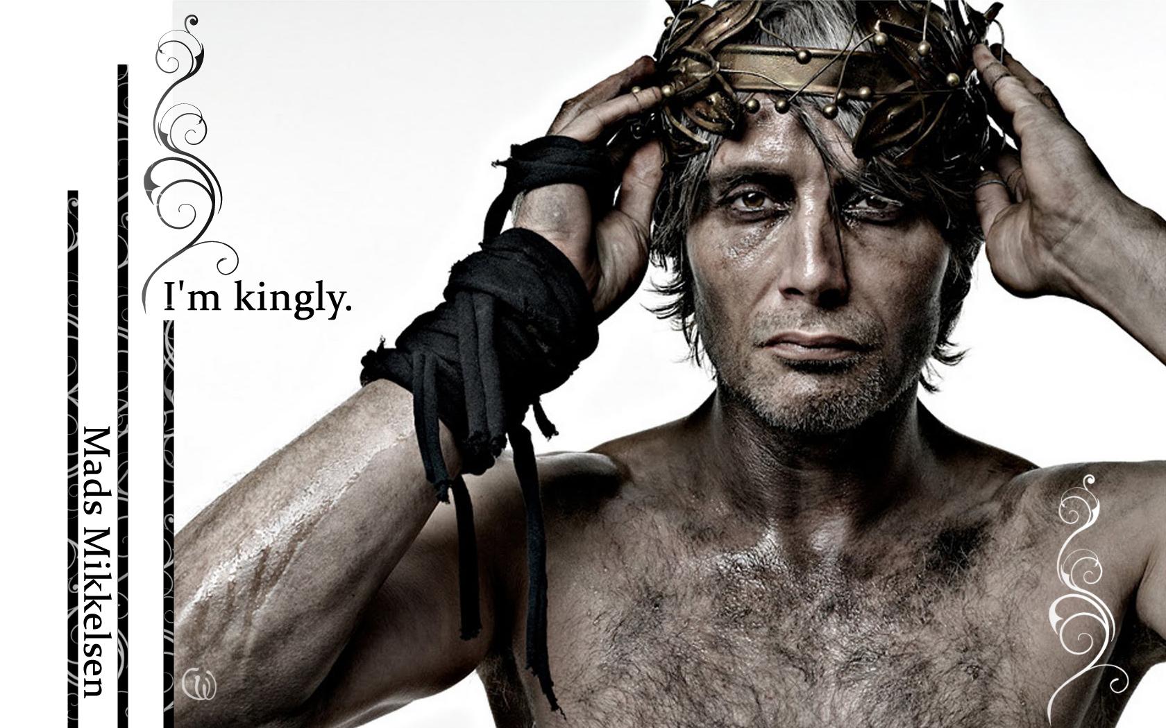 Mads Mikkelsen kertas dinding I am kingly
