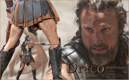 Mads Mikkelsen as Draco in Clash of the titans