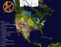 Map of Panem - The Hunger Games - the-hunger-games fan art