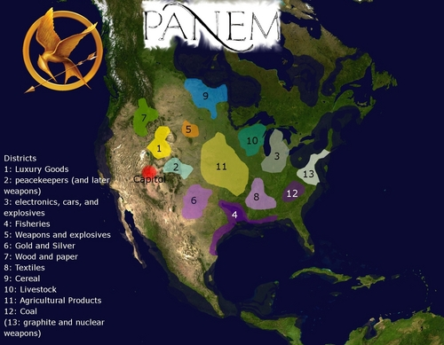 Map of Panem - The Hunger Games